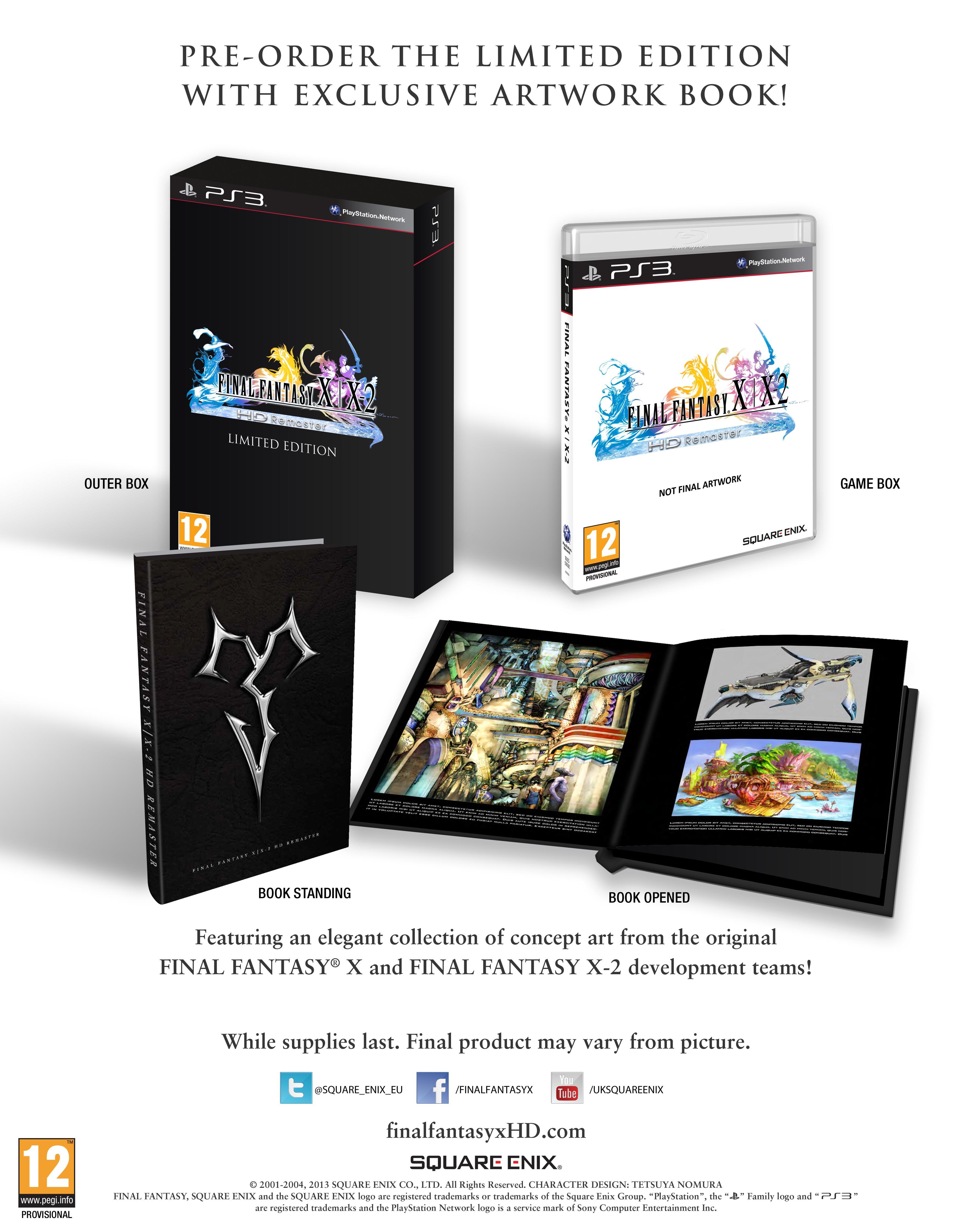 Buy final fantasy x x-2 hd remaster limited edition on playstation.