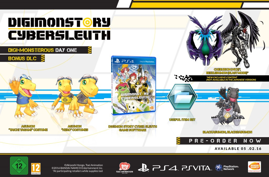Digimon Story Cyber Sleuth_Day 1 Content