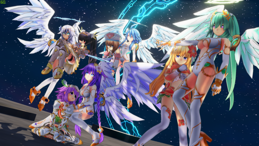 One of a handful of 3D cutscenes in Cyberdimension Neptunia.