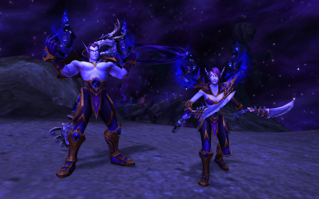 Void Elves, one of the new Allied Races for Alliance players.